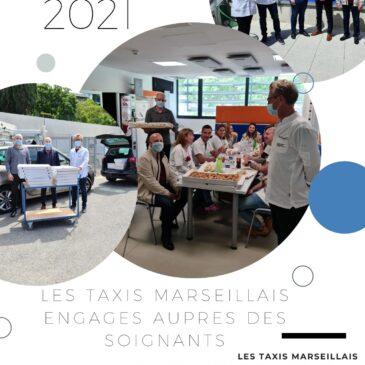 Les Taxis marseillais et les Artisans boulangers engagés aux côtes des soignants de l' IHU.